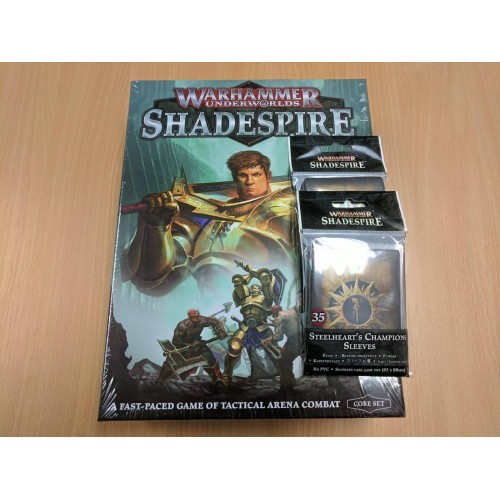 Warhammer Underworlds: Shadespire Base Game - Includes card sleeves
