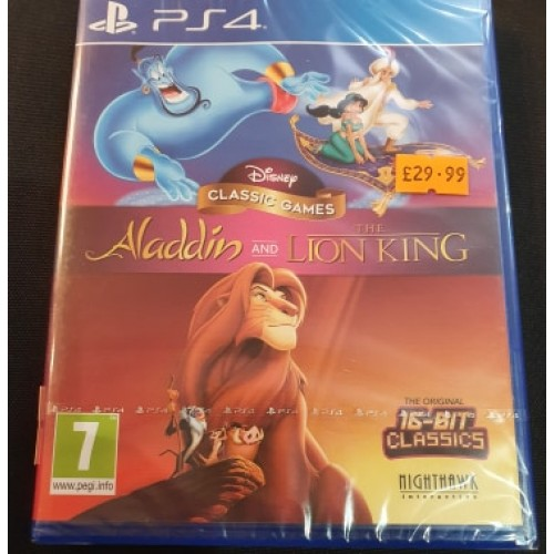 Disney's Classic Games Aladdin And The Lion King: Playstation 4
