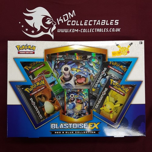 Pokemon Red & Blue Collection Blastoise EX Generations Box NEW