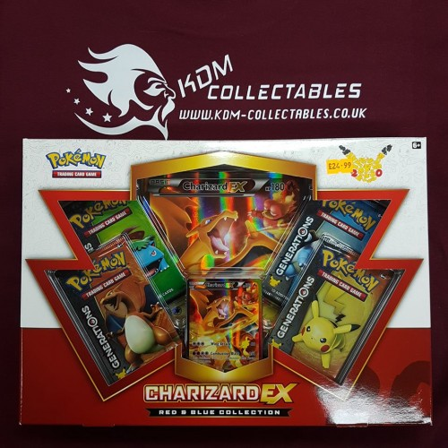 Pokemon Red & Blue Collection Charizard EX Generations Box NEW